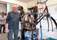 YPL's Bike Shop Keeps Andy Busy!