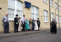 Looking back at the unveiling of the Thomas Peacock Blue Plaque Saturday, 4th June 2011 with Maureen Scott of the Littleport Society