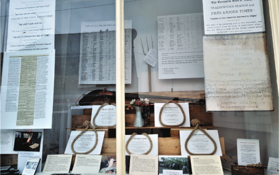 The Littleport Riots: A Moving Exhibition in Adams Heritage Centre Window
